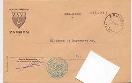 Omslag Enveloppe - Gemeente Zarren - Stempel 1965 - Ganzsachen
