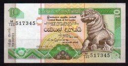 460-Sri Lanka Billet De 10 Rupees 1994 M140 - Sri Lanka
