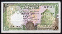 466-Sri Lanka Billet De 10 Rupees 1987 F155 - Sri Lanka