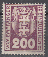 DANZIG   SCOTT NO. J16    MINT HINGED     YEAR 1923     WMK 109 - Danzig