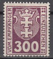 DANZIG   SCOTT NO. J17    MINT HINGED     YEAR 1923     WMK 109 - Danzig