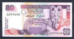 460-Sri Lanka Billet De 20 Rupees 1995 L90 Neuf - Sri Lanka