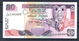 460-Sri Lanka Billet De 20 Rupees 2004 L294 Neuf - Sri Lanka