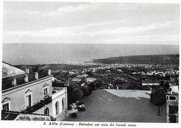 SANT' ALFIO - BELVEDERE CON VISTA DEL LITORALE IONICO - CATANIA - NON VIAGGIATA - Catania
