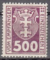 DANZIG   SCOTT NO. J19    MINT HINGED     YEAR 1923 - Danzig