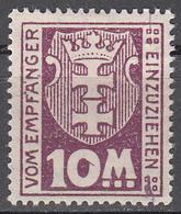 DANZIG   SCOTT NO. J21   MINT HINGED     YEAR 1923 - Danzig