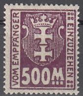 DANZIG   SCOTT NO. J25   MINT HINGED     YEAR 1923 - Danzig