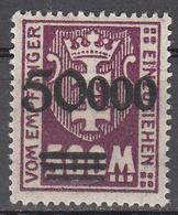 DANZIG   SCOTT NO. J28   MINT HINGED     YEAR 1923 - Danzig