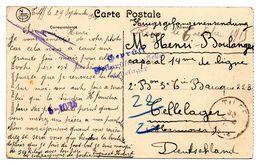 CV De Tilff Vers Prisonnier Du Camp De CELLELAGER - Censure Du Camp (1915) - WW I
