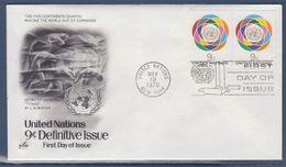 = Emblème De L'ONU Enveloppe 1er Jour New-York 19.11.76 N°271 Série Courante O.N.U. - FDC