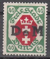 DANZIG   SCOTT NO. 07    MINT HINGED     YEAR 1921 - Danzig