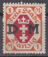 DANZIG   SCOTT NO. 014    MINT HINGED     YEAR 1921 - Danzig