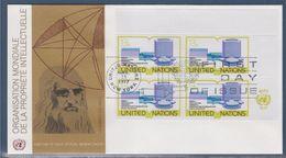 = Nouveau Bâtiment Organisation Mondiale Propriété Intellectuelle Genève Enveloppe 1er Jour New-York 11.3.77 N273 X4 - FDC