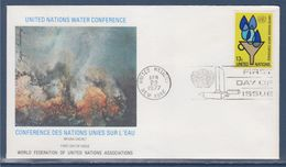 = Conférences Des Nations Unies Sur L'eau à Mar Del Plata Enveloppe 1er Jour New-York 22.4.77 N°275 Symboles - FDC