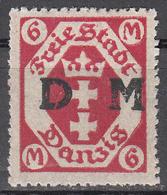 DANZIG   SCOTT NO. 025     MINT HINGED     YEAR 1921 - Danzig