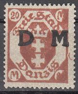 DANZIG   SCOTT NO. 027     MINT HINGED     YEAR 1921 - Danzig