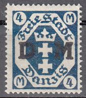 DANZIG   SCOTT NO. 031    MINT HINGED     YEAR 1921 - Danzig