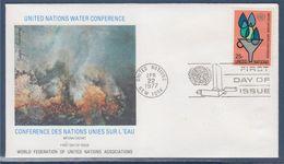 = Conférences Des Nations Unies Sur L'eau à Mar Del Plata Enveloppe 1er Jour New-York 22.4.77 N°276 Symboles - FDC