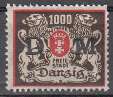 DANZIG   SCOTT NO. 041    MINT HINGED     YEAR 1922 - Danzig