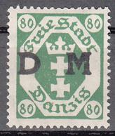 DANZIG   SCOTT NO. 012    MINT HINGED     YEAR 1921 - Danzig