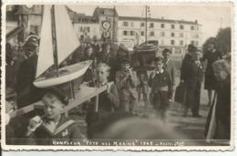 """PHOTO.....HONFLEUR    CALVADOS...""""Fete Des Marins """"en 1945...personnages En Bon Plan.. - Honfleur"""