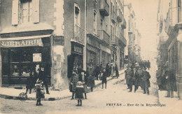 07 // PRIVAS   Rue De La République, Librairie à Gauche - Privas