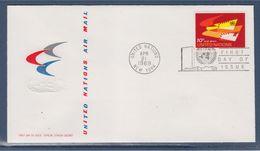 = Ailes Stylisées Enveloppe 1er Jour New-York 21.4.69 N°PA10 La Poste Aérienne - FDC