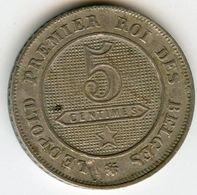 Belgique Belgium 5 Centimes 1862 Français KM 21 - 1831-1865: Léopold I.