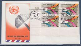 = Chemins Du Ciel Enveloppe 1er Jour New-York 16.9.74 N°PA20 Bloc De 4  Série Courante - FDC
