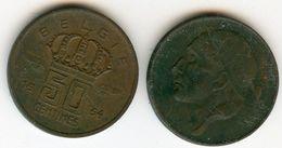 Belgique Belgium 50 Centimes 1954 Flamand KM 145 - 1951-1993: Boudewijn I
