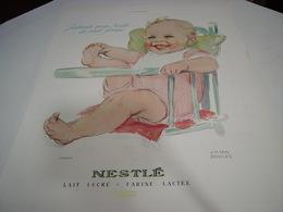 ANCIENNE PUBLICITE BEBE NESTLE 1938 - Afiches