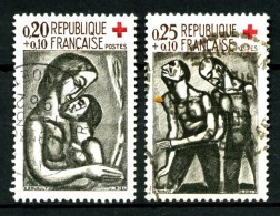 1323/1324 - Paire Croix-Rouge 1961 - Oblitérés - Très Beaux - France