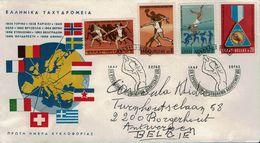 Griechenland Grece 1969 - Leichtathletik-Europameisterschaft, Athen - MiNr 1006-1009 - Leichtathletik