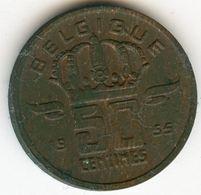 Belgique Belgium 50 Centimes 1955 Français KM 144 - 1951-1993: Boudewijn I