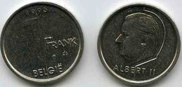 Belgique Belgium 1 Franc 1995 Flamand KM 188 - 1993-...: Albert II