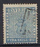 SUEDE : ( POSTE ) : Y&T N° 2  TIMBRE  BIEN  OBLITERE , A VOIR . - Suède