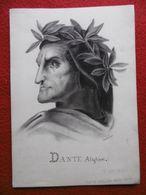 DESSIN ORIGINAL DANTE ALIGHIERI SUPERBE DATE 1846 ARTISTE A IDENTIFIER  22.5 X 16 - Dessins