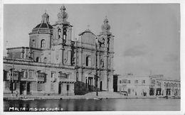 "07534 ""MALTA - MISIDA CHURCH"" ANIMATA, BARCA. CART  NON SPED - Malta"