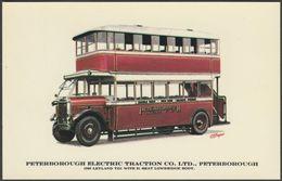 Peterborough Electric Traction Co Ltd Leyland TD1 - Prescott-Pickup Postcard - Buses & Coaches