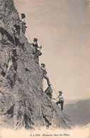 "07538 ""ASCENSION DANS LES ALPES"" ANIMATA. CART  NON SPED - Alpinisme"