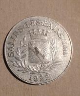 TOKEN JETON GETTONE FRANCIA SALINS LES BAINS 1922 - Monetari / Di Necessità