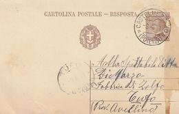 Castelmezzano. 1931. Annullo Guller CASTELMEZZANO (POTENZA),  Su Cartolina Postale Con Testo. - 1900-44 Victor Emmanuel III