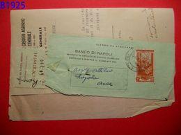 B1925 ITALIA AL LAVORO 25 LIRE  STRAPPATA - 6. 1946-.. Repubblica