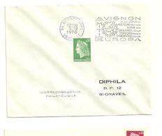 VAUCLUSE - Dépt N° 84 = AVIGNON GARE 1970 =  FLAMME à DROITE = SECAP Illustrée ' EUROPA AMITIÉ ' - Postmark Collection (Covers)