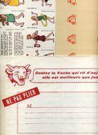 Publicité LA VACHE QUI RIT Fromageries BEL Lons Le Saunier /N°6 Jeu De Cric Et Crac Sept Familles Enveloppe Années 60 - Group Games, Parlour Games