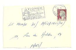 VAUCLUSE - Dépt N° 84 = AVIGNON GARE 1965/66 = 2 X FLAMME DIFF = SECAP Illustrée Des Notes De La Chanson Du' PONT' - Postmark Collection (Covers)