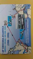 SCHEDA TELEFONICA ITALIANA - OMAGGIO-C&C 3236 - G 145 -60° CROCIERA ATLANTICA - [4] Sammlungen