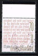 Bund 2016, Michel# 3263 O 175 Jahre Deutschlandlied - BRD
