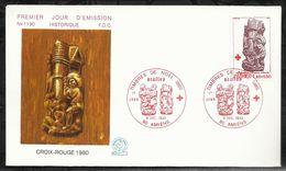 CROIX ROUGE FRANCAISE . STALLES . 06 DECEMBRE 1980 . AMIENS . - FDC