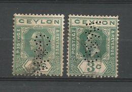 GB - CEYLAN - OLD PERFINS   - D 713 - Ceylan (...-1947)